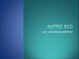MATRIZ BCG - ADMINISTRACIÓN UTIM