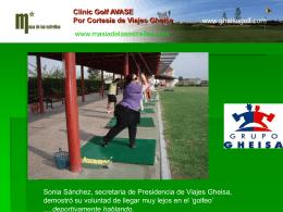 Clinic Golf AVASE Por Viajes Gheisa