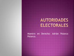 Autoridades Electorales