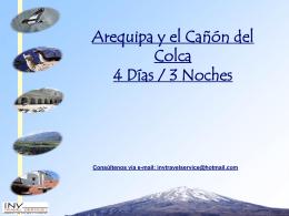 Arequipa y el Cañón del Colca 4 Días / 3 Noches