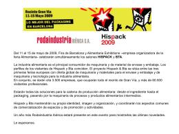 Del 11 al 15 de mayo de 2009, Fira de Barcelona y