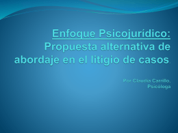 Enfoque Psicojurídico: Propuesta alternativa de