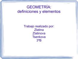 GEOMETRÍA: definiciones y elementos