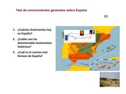 Test de conocimientos generales sobre España