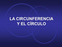 La circunferencia y el círculo: