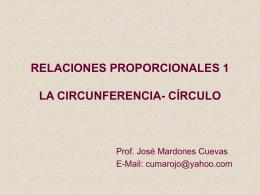 RELACIONES PROPORCIONALES EN LA CIRCUNFERENCIA