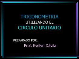 TRIGONOMETRIA UTILIZANDO EL CIRCULO UNITARIO