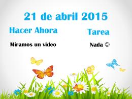 21 de abril 2015