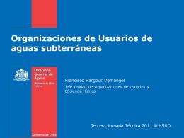 Organizaciones de Usuarios de aguas subterráneas