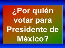 Diapositiva 1 - MEXICO MAXICO, Con M de México