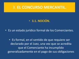 3. EL CONCURSO MERCANTIL.