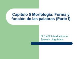Capítulo 5: morfología