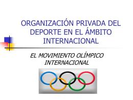 ORGANIZACIÓN PRIVADA DEL DEPORTE EN EL ÁMBITO