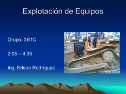 Explotación de Equipos - Ing. Edson Rodríguez