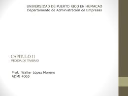 MEDIDA DE TRABAJO - Universidad de Puerto Rico