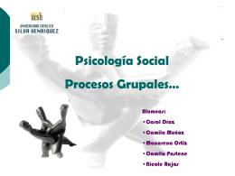 Diapositiva 1 - Psicosociología | Interacción y