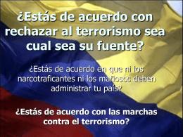 Todos contra el terrorismo