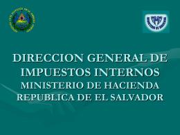 DIRECCION GENERAL DE IMPUESTOS INTERNOS MINISTERIO
