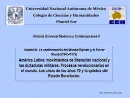 Historia Universal Moderna y Contemporánea II