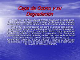 Capa de Ozono y su Degradación