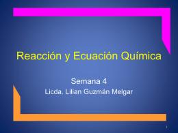 Reacción y Ecuación Química