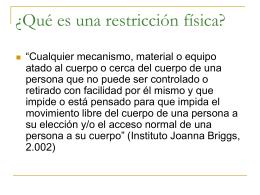 Restricción física