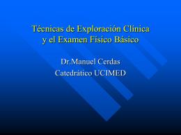 La Exploración Física - Blog 5 Semestre UCIMED