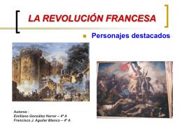 Personajes Revolución Francesa