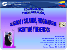 Compensación y Remuneración, Sueldos y Salarios,