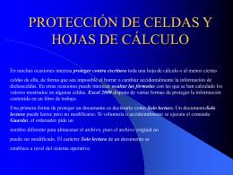 PROTECCIÓN DE CELDAS Y HOJAS DE CÁLCULO