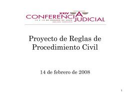 Discusión de Proyecto de Reglas de Procedimiento