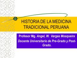 HISTORIA DE LA MEDICINA TRADICIONAL