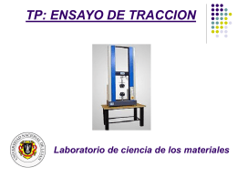 TP: ENSAYO DE TRACCION - Ciencia de los Materiales