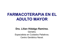 FARMACOTERAPIA EN EL ADULTO MAYOR