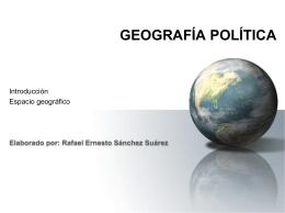 1 Introducción - El espacio geográfico