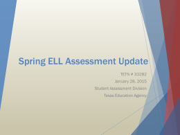 Assessment of English Language Learners