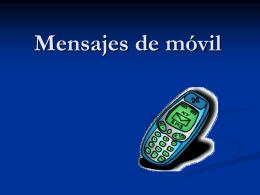 Mensajes de móvil - BlogTicoIesColme