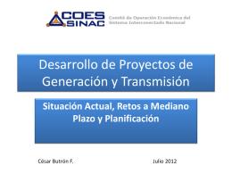 Desarrollo de Proyectos de Generación y
