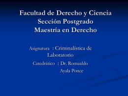 Disciplinas auxiliares de la Criminalística