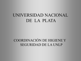 Sustancia peligrosa - Universidad Nacional de La