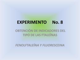EXPERIMENTO No. 8