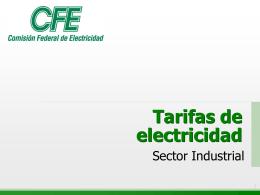Tarifas de electricidad - Comisión Nacional para