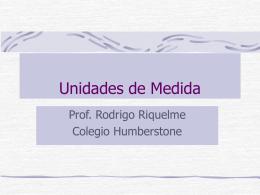 Unidades de Medida - Colegio Humberstone