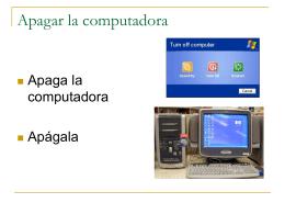 Apagar la computadora