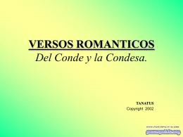 VERSOS ROMANTICOS Del Conde y la Condesa.