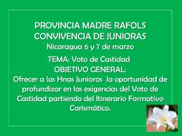 PROVINCIA MADRE RAFOLS CONVIVENCIA DE JUNIORAS