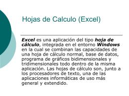 Hojas de Calculo (Excel)