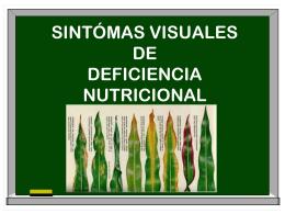 SINTOMAS VISUALES DE DEFICIENCIA NUTRICIONAL