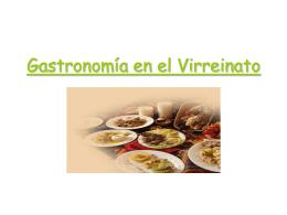 Gastronomía Colonial