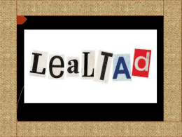 LA LEALTAD - Colegio La Purísima de Callosa de